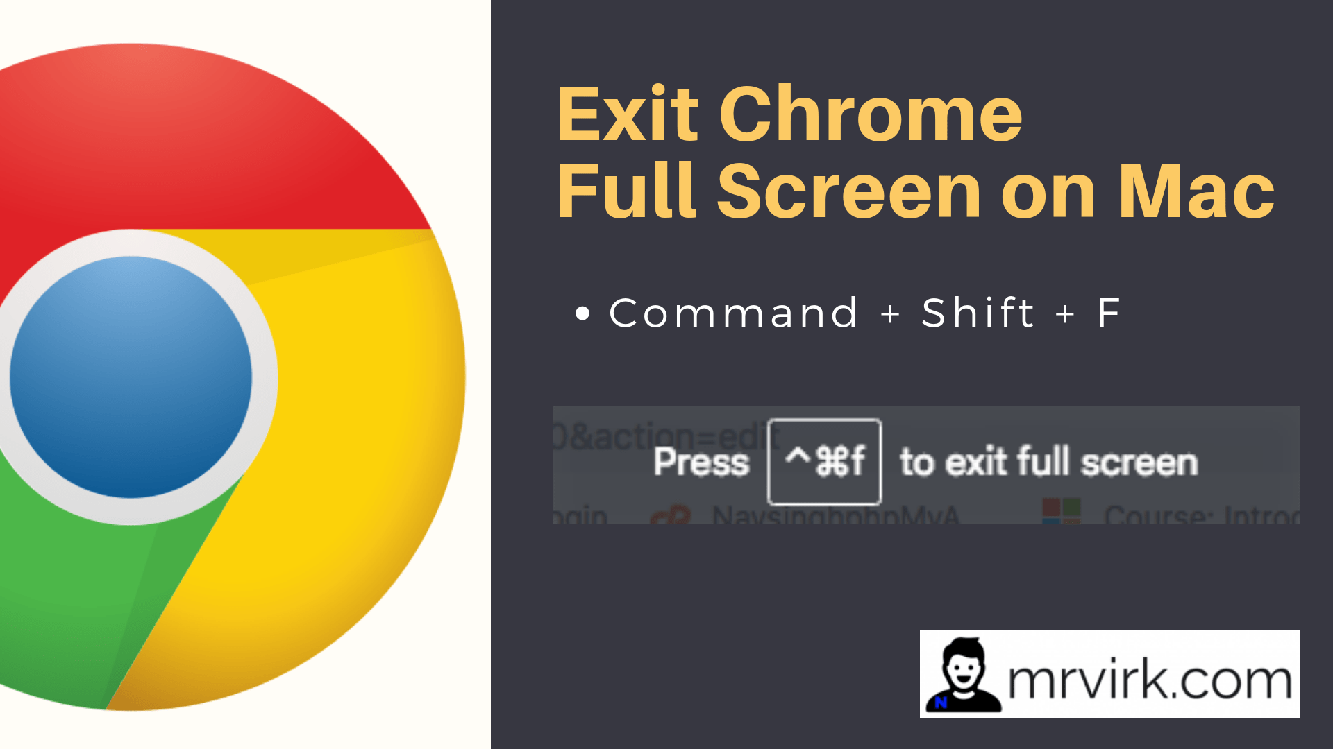 exit full screen chrome