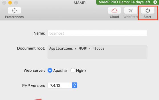 Install MAMP for WordPress