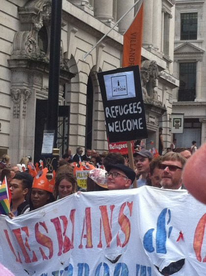 Pride refugees welcome