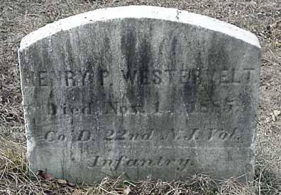 Henry P. Westervelt's grave marker.