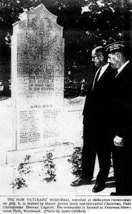 Multi-War Memorial Dedication.