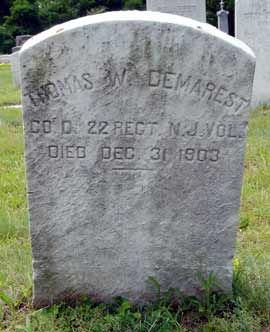 Thomas W. Demarest's grave marker.