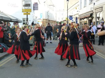 Cheltenham Folk Festival 2012 - Stars in Fenella's Dance. The cardigans were a necesary addition to the kit