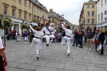 Sarum Morris leaping about in Milsom Street