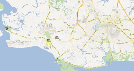 Location map berkeleys green, williamsburg va