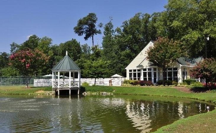 pond with gazebo at berkeleys green