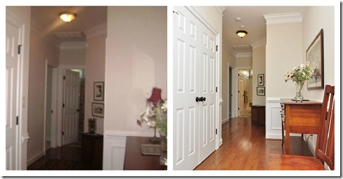 hall before and with pro photography