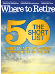 """Where to Retire magazine reveals """"The Short List: 50 Best Master-Planned Communities in the United States"""" in the national, bi-monthly magazine's July/August issue, which hits newsstands on June 21, 2013. The list includes Colonial Heritage, a 55+ active adult -planned community located in Williamsburg, Virginia."""