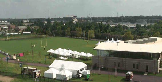 Starting this week , July 25th, 2013 the Washington Redskins will hold training camp in Richmond, VA for the first time this summer, at a new facility that's expected to draw 100,000 fans — 60 percent of whom will be tourists .A chance to watch Robert Griffin III, Brian Orakpo and the rest of the defending NFC East champions practice (free of charge) is a great reason to make the drive down Interstate 64
