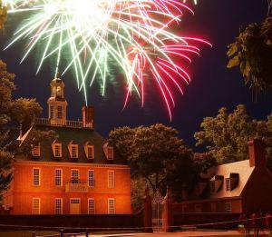 july 4th colonial williamsburg va fireworks 2016