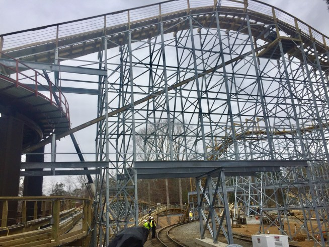 Sneak Peak At Invadr Busch Gardens Williamsburg S New Wooden Roller Coaster Mr Williamsburg