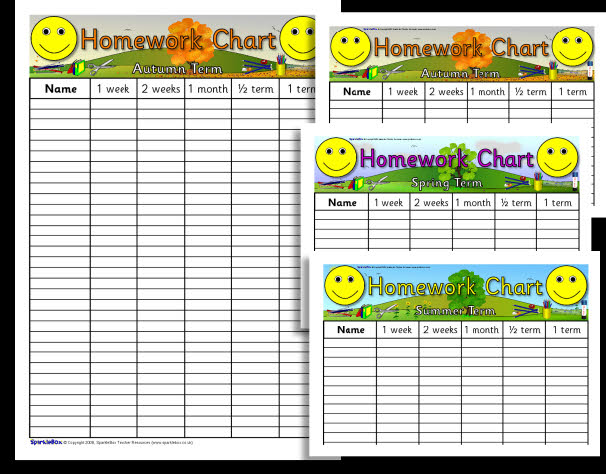 Sparklebox ks editable homework charts   also mr williams maths rh mrwilliamsmaths wordpress