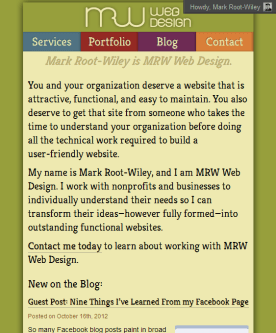 MRWweb.com on a medium-size screen.