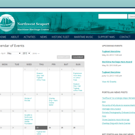 The calendar layout on NW Seaport