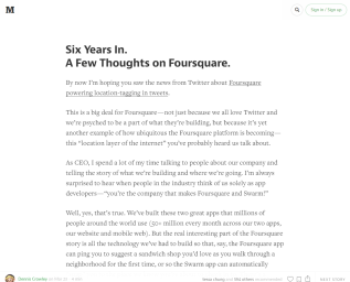 Screenshot of article on Medium.com