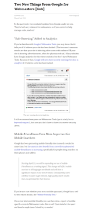 Article in Pocket App / Website.