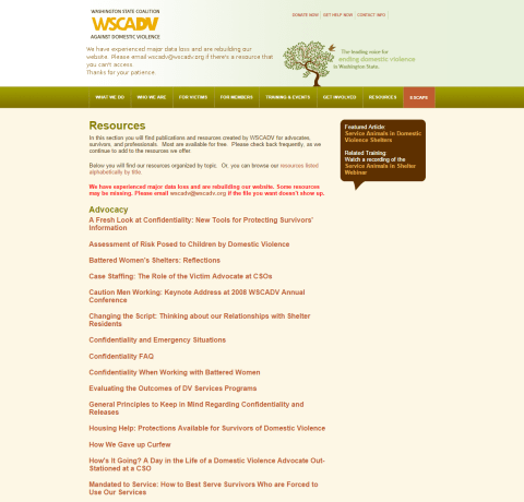 WSCADV Old Resources Page