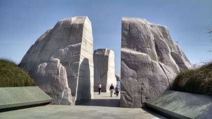 The entrance to the Martin Luther King memorial