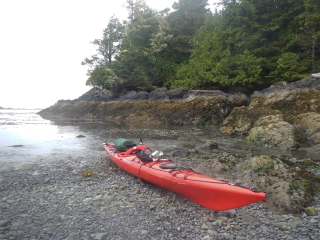 Beached and taking a break on the west side of Vargas Island