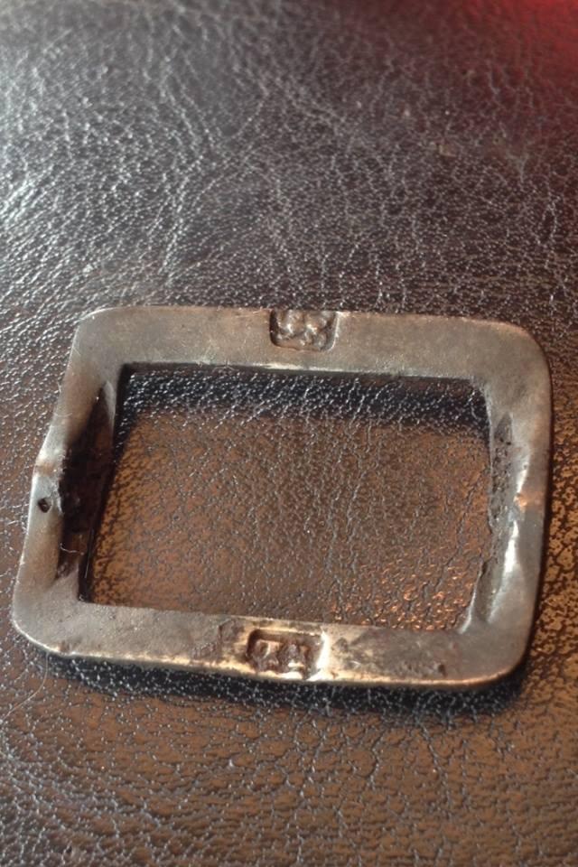 Eighteenth century silver British knee buckle.