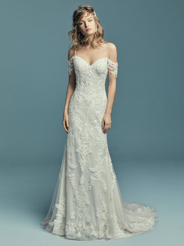 Angelica 8MT659 Lace Boho Wedding Dress by Maggie Sottero