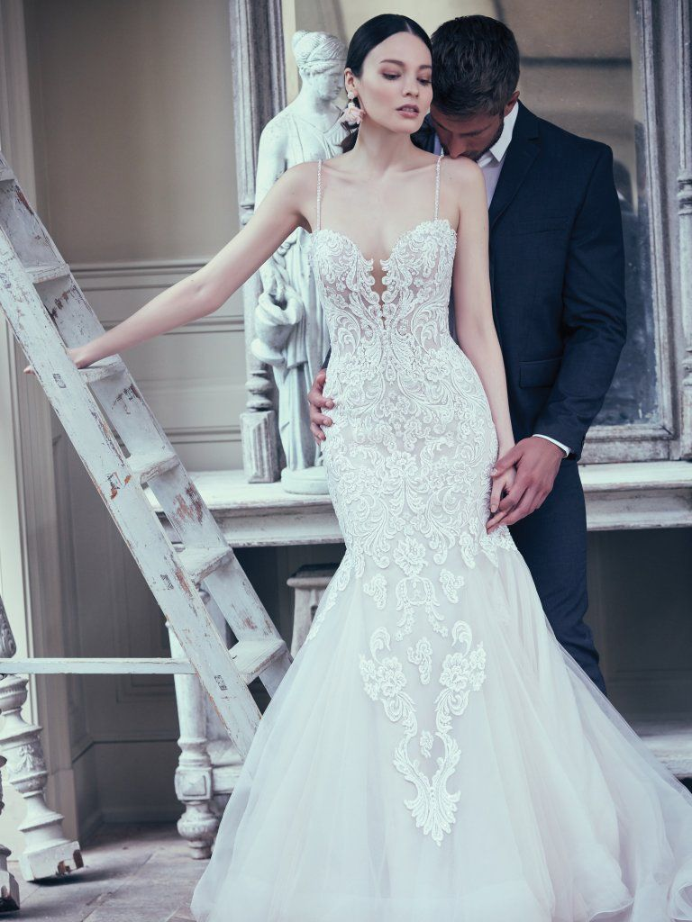 Alistaire 9MS023 Lace Fit and Flare Wedding Dress by Maggie Sottero