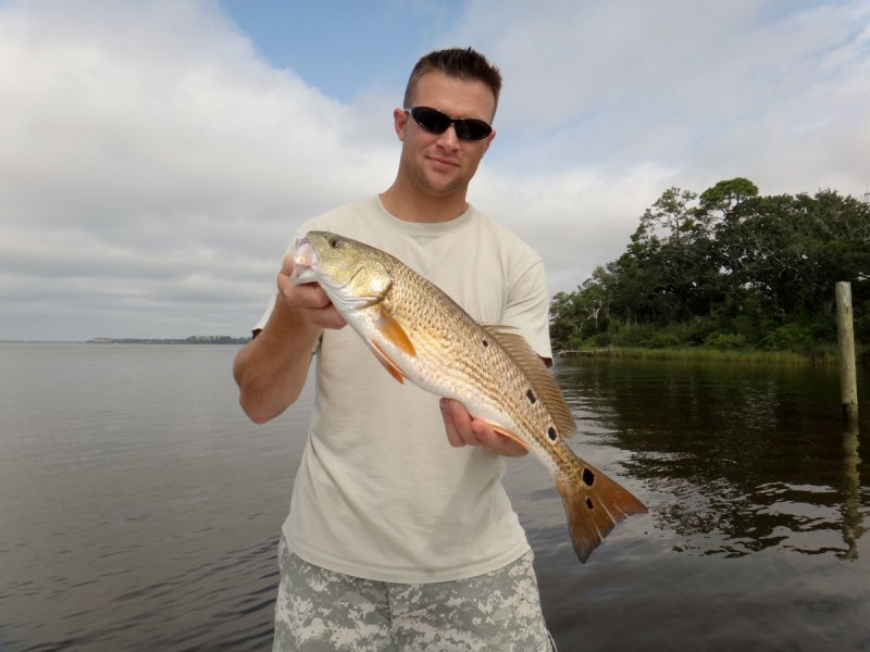 When fishing for flounder, don't be surprised if you catch a redfish. Kyle Perry said they frequent the same kind of areas and can be a bonus catch.