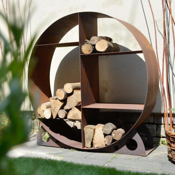 Metal Log Holder Firewood Storage Rack Wood