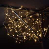 Buy Outdoor Solar Copper Parasol Lights  The Worm that ...