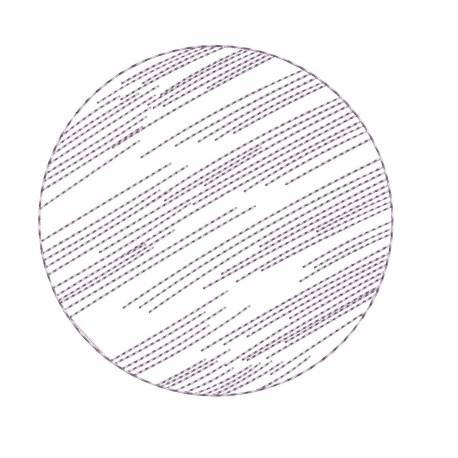 Simple Outline Circle Embroidery Design
