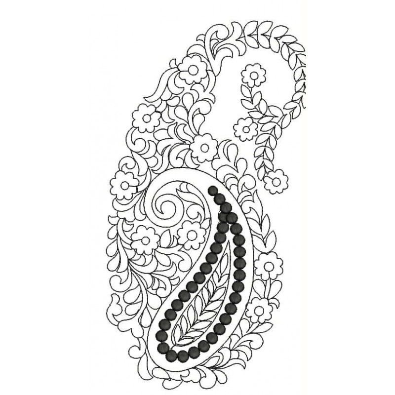 Elegant Paisely Outline Designs,free embroidery design