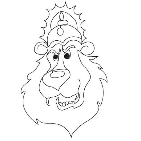 The King Lion Machine Embroidery Design