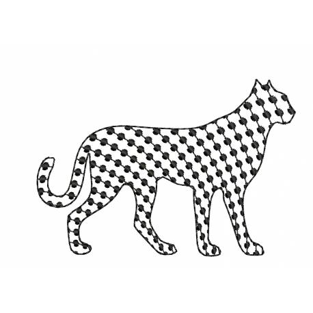 Black Dot Cheetah Embroidery Design