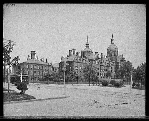 Johns Hopkins Hospital, Baltimore, Md.. American Memory Project, Touring Turn-of-the-Century America: Photographs from the Detroit Publishing company, 1880-1920 LC-D4-16532 DLC (b&w glass neg.). Library of Congress