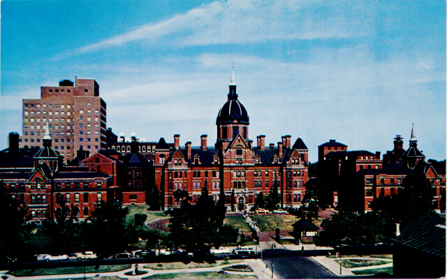 The Johns Hopkins Hospital. Private collection.