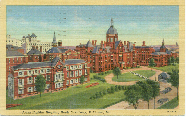 Johns Hopkins Hospital, North Broadway, Baltimore, Md.. Private collection.