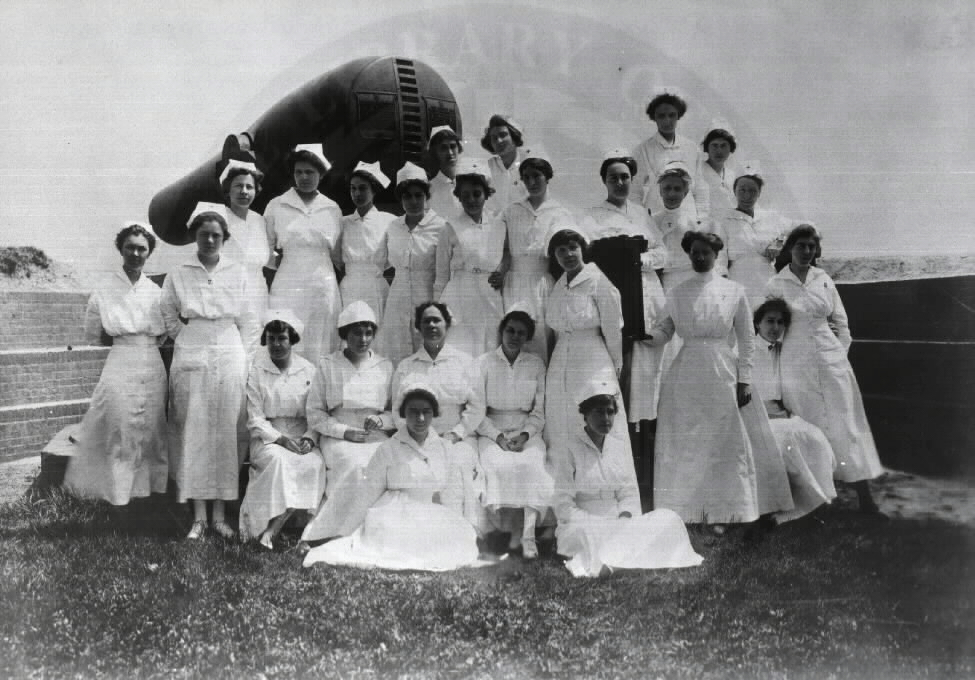 U.S. General Hospital No. 2, Fort McHenry - Group of Nurses. Images from the History of Medicine Collection. National Library of Medicine, History of Medicine Division