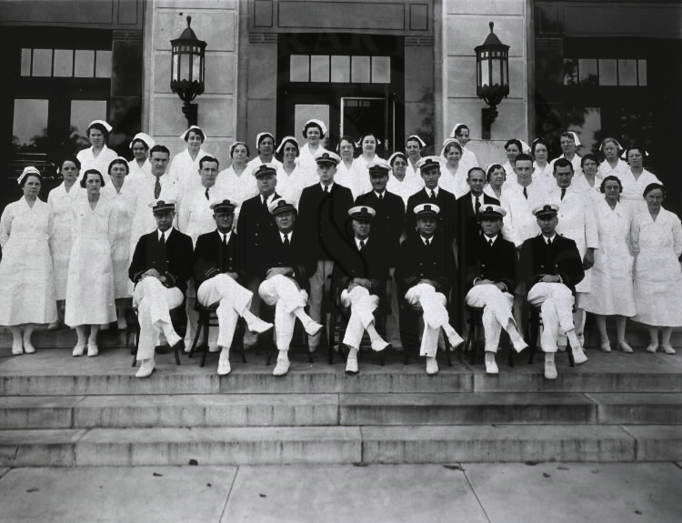 U.S. Marine Hospital, Baltimore, Maryland. Personnel- Hospital Staff. Images from the History of Medicine Collection, Order No. A010393. National Library of Medicine, History of Medicine Division