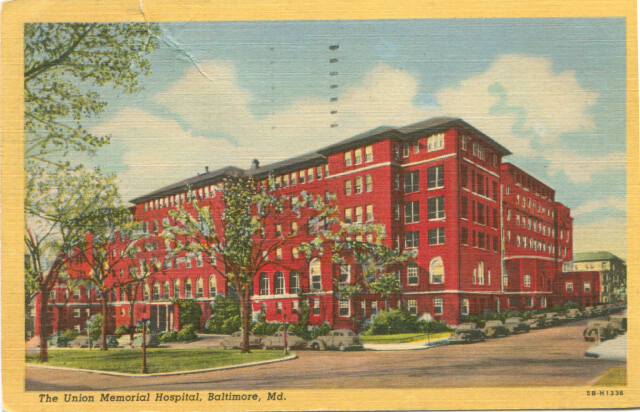 The Union Memorial Hospital, Baltimore, Md. Private collection.