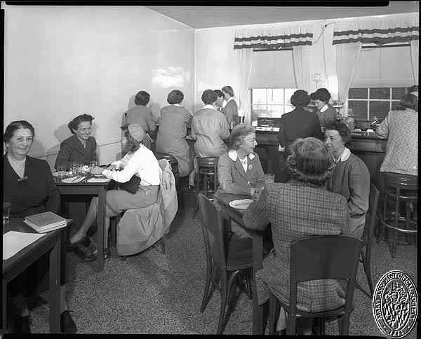 Union Memorial Hospital - canteen. Hughes Studio Photograph Collection, PP 30, Box 10, Folder 65. Maryland Historical Society
