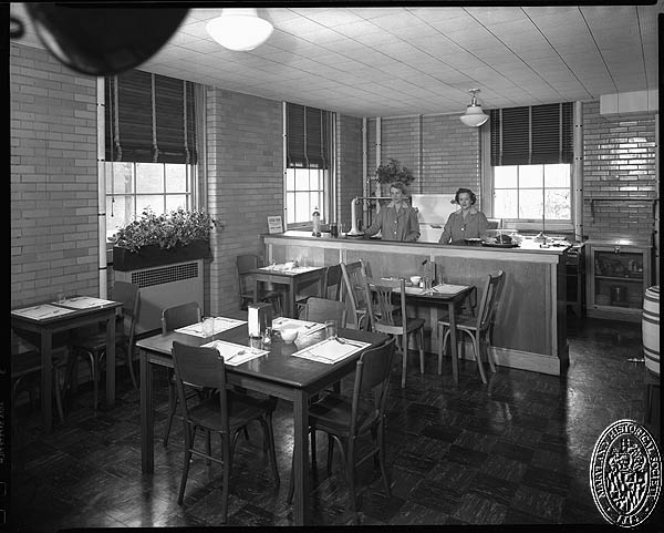 D. Stuart Webb - interiors of the Hospital for the Women of Maryland - cafeteria. Hughes Studio Photograph Collection, PP 30, Box 10, Folder 94. Maryland Historical Society