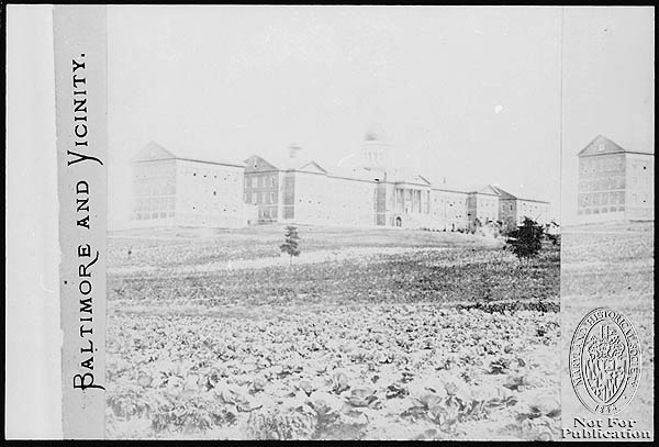 Baltimore - Asylums - Bayview Asylum - 1870. Peale Catalog H196.1 PP1.1 (Z24.1825). Photograph Collections Cross-Section. Maryland Historical Society