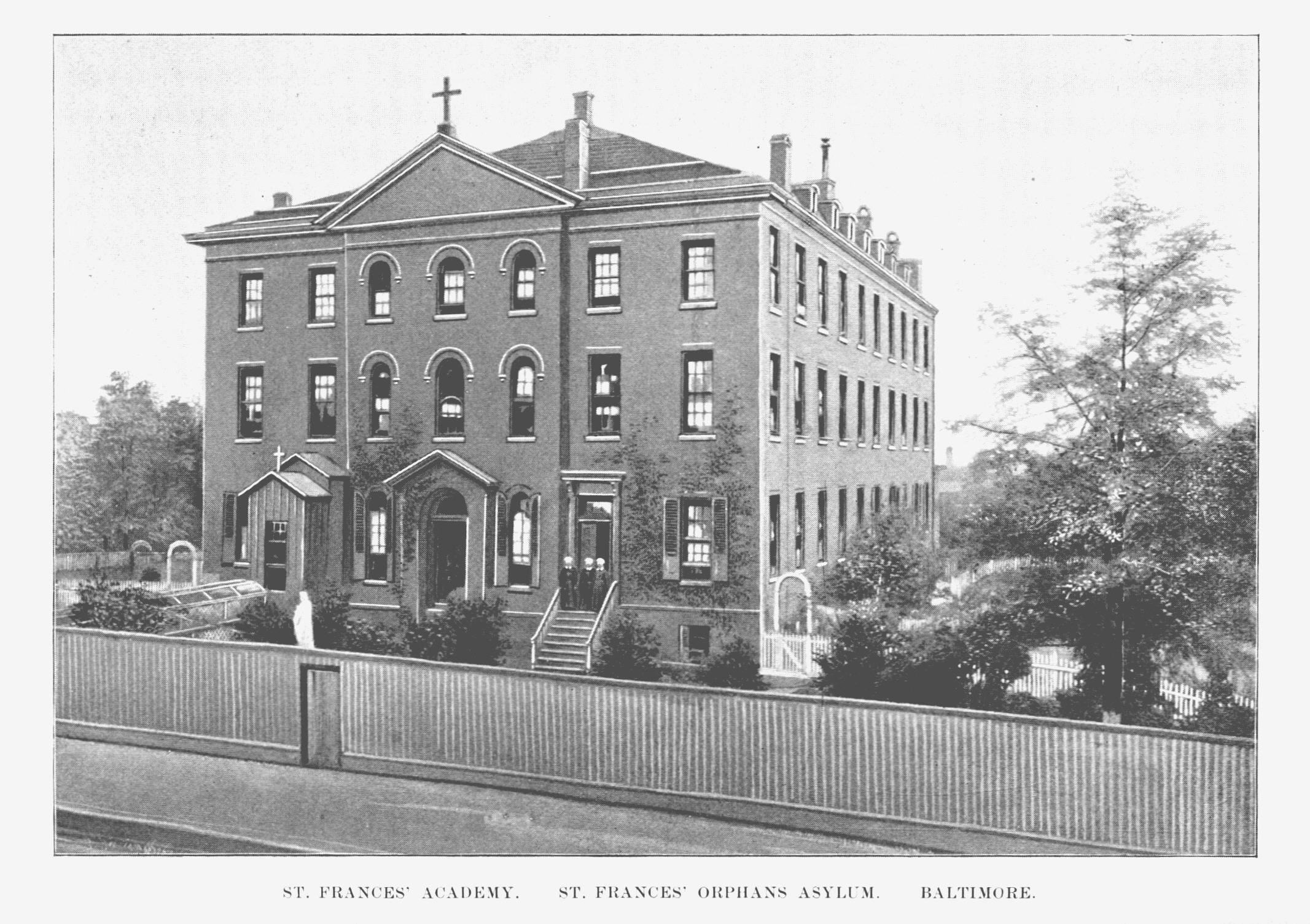 St. Frances Academy. St. Frances's Orphan Asylum. Message of Frank Brown, Governor of Maryland, to the General Assembly at its Regular Session, January, 1894 (Baltimore: Wm. J.C. Dullany Company, 1894). Maryland State Archives