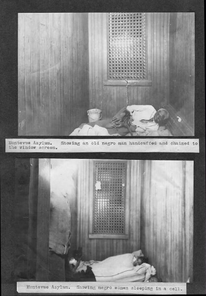 Montevue Asylum, View of cells, African American wards. 23rd Annual Report of the Maryland Lunacy Commission. Maryland State Archives