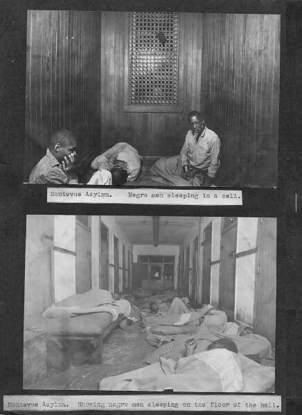 Montevue Asylum, African American male ward views. 23rd Annual Report of the Maryland Lunacy Commission. Maryland State Archives