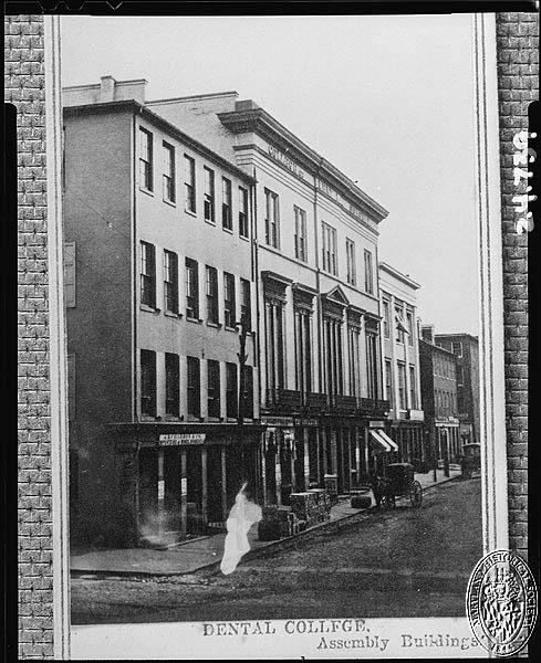 (Z24.449) Dental College, 1864 PP106.25. Maryland Historical Society