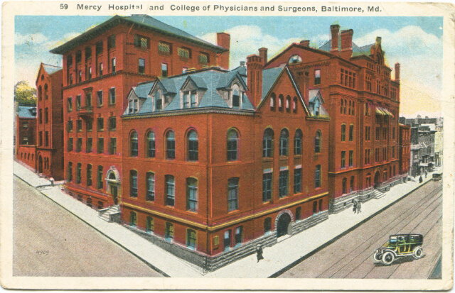 Mercy Hospital and College of Physicians and Surgeons. Private Collection.