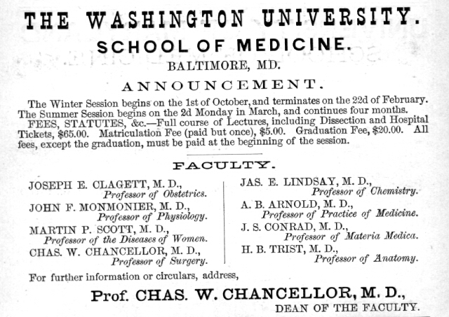 Washington University. Maryland State Archives