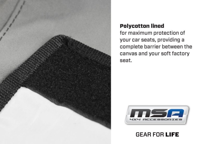 Pollycotton Lined - canvas - Premium Canvas Seat covers - MSA 4X4 Accessories for 4WD Vehicles