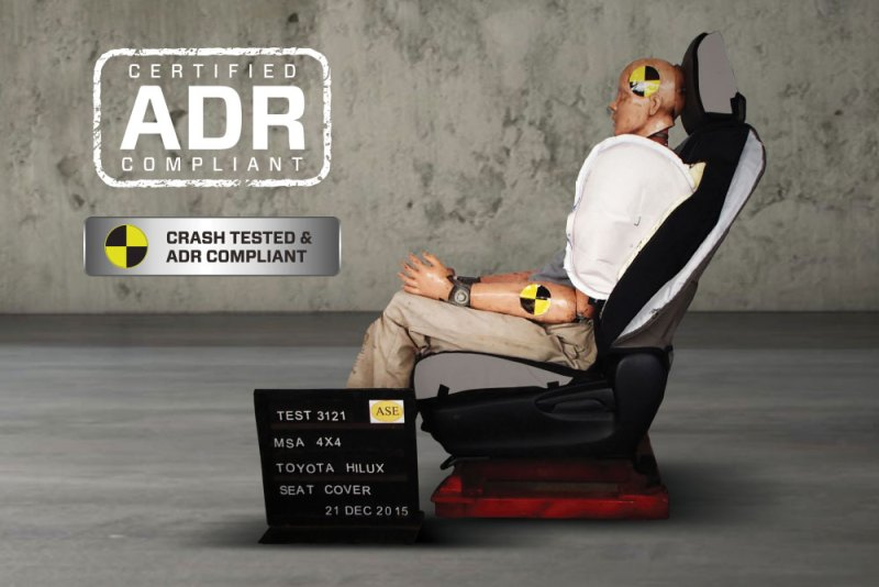 Tradie Gear Seat Covers Certified ADR Compliant Crash Tested
